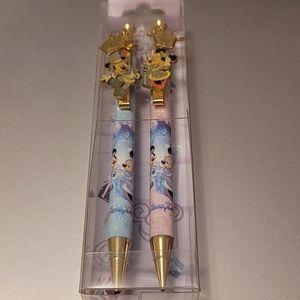 Disneyland Mickey and Minnie Pen & Pencil Set